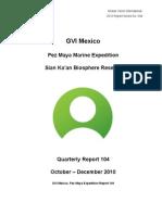 GVI Pez Maya Quarterly Report Oct-Dec 2010 Final
