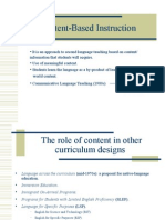 The implementation of content-based instruction in civics teaching.