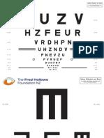 FHFNZ Letter Chart E Chart 3 Metre
