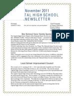 November Newsletter 2011-2