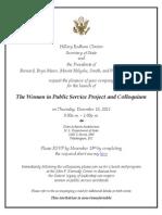 Invitation from Hillary Rodham Clinton