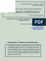 Documento 2 Desafios de Los Docentes y La Trans for Mac Ion de La Educacion Superior