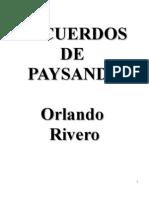 Orlando Rivero - Recuerdos de Paysandu