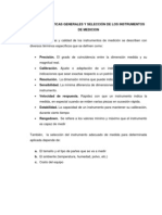 SELECCIÓN DE LOS INSTRUMENTOS DE MEDICION