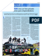 Emprendedores Zitek UPV/EHU en Deia