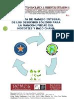 PROPUESTA DE MANEJO INTEGRAL DE LOS DESECHOS SÓLIDOS PARA LA MANCOMUNIDAD DEL MOCOTÍES Y BAJO CHAMA
