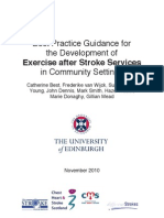 Exercise After Stroke Guidelines