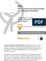 Why Choose Universal Design as a Design Philosophy
