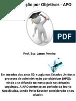 Administração por Objetivos - APO 08-11-11