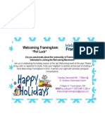 Holiday Pot Luck Invite