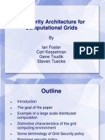 Security Architecture for Computational Grid Ppt