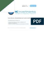 Cálculo da Rntabilidade dos Fundos Imobiliários - 3 métodos