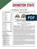 2011 Game Notes-Washington