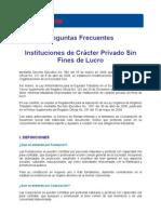 Inquietudes Contribuyentes Sin Fines de Lucro (30-Oct-08)