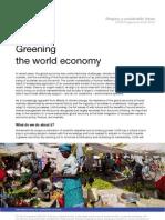 Greening the World Economy