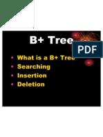 B+ Tree Reports