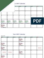 BSMGT Class Schedule CAA 12Mar'07