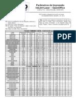 CodFax 014 Para Metros de Impressao InkJet Laser Open Office