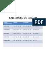 CALENDÁRIO DE ESTÁGIO