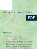 Diabetes Nursing Care