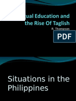 Bilingual Education and the Rise of Taglish - Ava