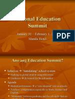 National Education Summit - Dinah