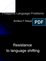 Philippine Language Problems