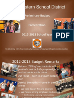 2012-13 Preliminary Budget Presentation Nov 2011