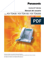 Manual Del Usuario KX TDA100