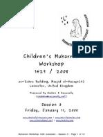 Muharram 1429 2008 Workshop Notes for Session 03 Release v1.0