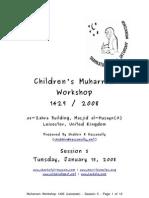 Muharram 1429 2008 Workshop Notes for Session 05 Release v1.0