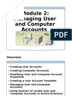 Module 2 - Managing User and Computer Accounts