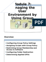 Module 6 - Managing the User Environment by Using Group Policy