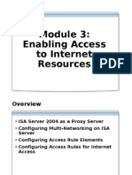 Module 14 - Enabling Access to Internet Resources