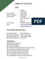 Sidwell's CV