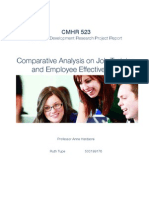 Comparative Analysis on Job Training/Effectiveness
