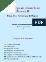 4.1 Transformación del Modelo de Clases al Modelo ER (2011)