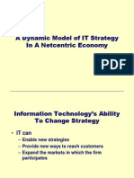 Session 2a a Dynamic Model of IT Strategy in a Netcentric Economy
