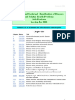 ICD-10 2006 Tabular List