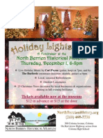 Flyer - Holiday Lights Gala, North Berrien Historical Museum