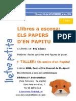 Cartell Llibres a Escena. Els Papers d'en Papitu. Novembre 2011