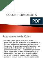 COLON HERMENEUTA Y LOS INDIOS