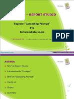 Cascading Prompt in Report Studio