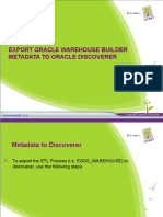 Metadata to Oracle Discoverer