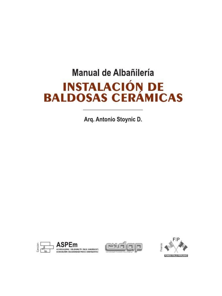Manual de albañilería: Instalación de baldosas cerámicas - photo#27
