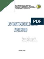 Las Competencias Del Docente Universitario