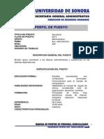 perfil Secretaria