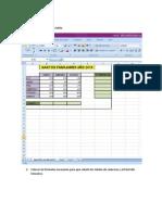 Ejercicio 1 - Excel