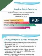 Traverse City Road Conversion Forum