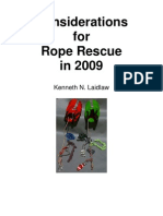 Considerations of Rope Rescue 2009